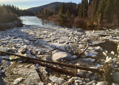 Ice Jam on upstream side of First Bridge