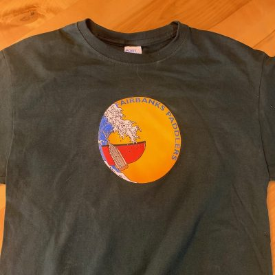 Fairbanks Paddlers Tshirt - Dark Green - Canoe Logo
