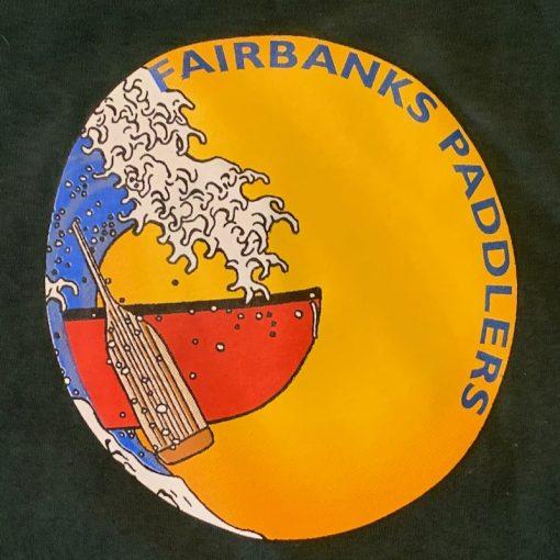Fairbanks Paddlers Tshirt - Dark Green - Canoe Logo